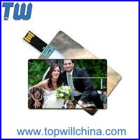 Quality Hotsale Credit Card 64GB Usb Thumb Drive with Digital Printing for Company Gifts for sale