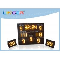 Quality IP65 Waterproof LED Basketball Scoreboard Iron / Steel / Aluminum Frame Material for sale