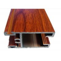 China Anti-corrosion Grain Wood Extrusion Aluminum Profiles 6000 Series on sale