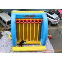 Quality Giant Inflatable Sport Games Connect 4 Basketball Hoops Yellow / Blue / Red for sale