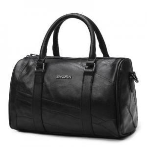 Quality Genuine Leather Fashion Ladies HandBags Black Shoulder With Adjustable Shoulder Strap for sale