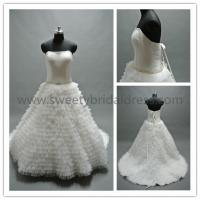 Quality Ball Gown Sweetheart Beading Belt Ruffles Tulle Wedding Dress AS1337A for sale