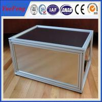 Quality New arrival! Aluminum extrusions 6063 6061 t5 t6, Anodized silver Aluminum cabinet frame for sale