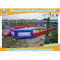 Quality 3 Years Warranty Inflatable Football Field / Inflatable Soccer Pitch For Adults for sale
