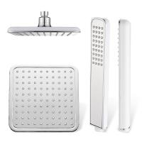 Buy Polished Chrome Bathroom Rain Shower Heads , 8 Inch Shower Head Set at wholesale prices