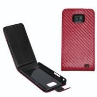 Buy cheap Carbon Fibre Leather Case Cover For Samsung Galaxy S2 i9100 from wholesalers
