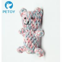 Quality Professional Lovely Rope Bear Dog Toy  Bright Color  BSCI Certification for sale