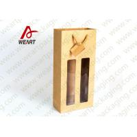 Quality Unique Two Bottles Sturdy Gift Bags For Wine , Customised Paper Handle Bags for sale
