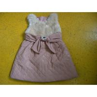 Quality Big Bow Waist 3 Year Little Girls Winter Dresses Sleeveless With Faux Leather Mini Skirt for sale
