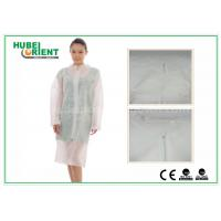 Quality Hospital Surgical Lab Coats / White Lab Coat For Women , MP Tyvek Materials for sale