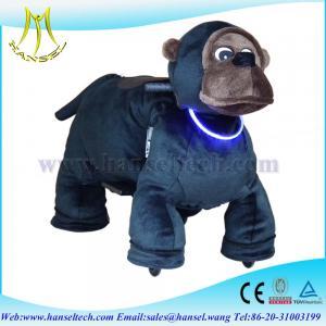 Quality Hansel animal battery car riding animals walking plush animal for sale