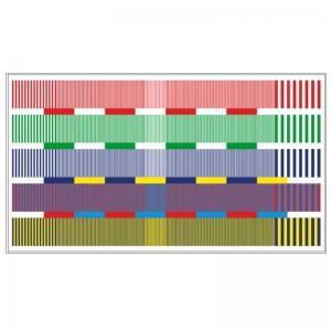 Quality Transmissive HDTV Color Resolution Test Chart Sineimage YE0222 for sale