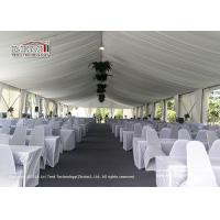 Custom Big Outdoor Event Tents White Party Tents With Tables Chairs Wedding Tent for sale