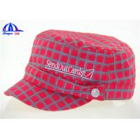 Quality 100% Cotton Woven Military Baseball Caps and Hats With Allover Printing Logo for sale