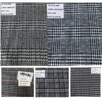 Quality Plaid Design Prince of Wales Stretch Rayon Polyester Fabrics for sale