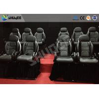 Quality Thrilling 5D Movie Theater Motion Cienma Luxury Black Movement Chairs for sale