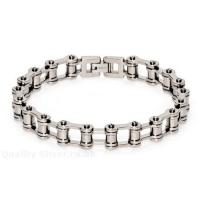 Quality Fashion men Stainless Steel Motorcycle / bicycle jewelry Chain Bracelets for Anniversary  for sale