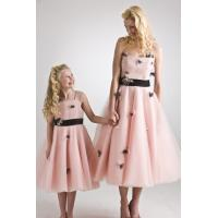 Quality Pink Hand flowers flower girl dress#C920-M983 for sale