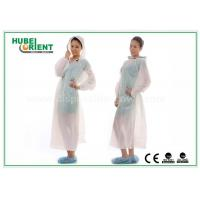 Waterproof Transparent Disposable Exam Gowns Outdoor For Adult , 0.017mm Thickness for sale