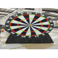 Quality Commercial Inflatable Sports Games Inflatable Football Dart Board 0.55mm Pvc Tarpaulin for sale