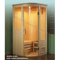 Quality Dry Steam Traditional Sauna , Electric Pine / Cedar / Hemlock Sauna Rooms for sale