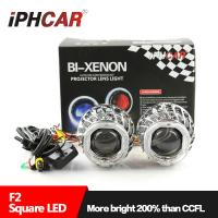 China IPHCAR Dual Angel Eye Lens Mini H1 Easy to Install LED Angel Eye Projector Lights for Cars with One-year Warranty on sale