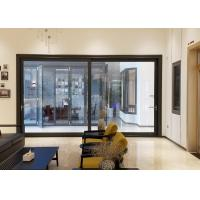 Quality 5mm Black Aluminium Doors And Windows / Exterior Aluminum Entry Doors Commercial for sale