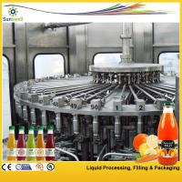 Quality PET / Glass Bottle Juice Filling Machine 24000BPH With 3-in-1 Filling Monoblock for sale