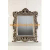 Quality Antique style with handmade gold leaf finish wood frame wall mirror for sale