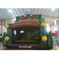 Buy Forest Truck Indoor Bounce House Fireproof , Customized Toddler Bounce House 6 X 4m at wholesale prices