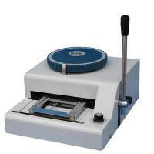 Buy cheap membership club card manual embossing machine for sale from wholesalers