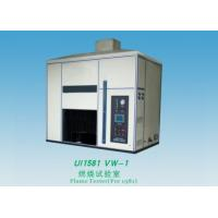 Quality Electric Wire Flame Test Chamber 1000Ml / M Flow Range For Finished Wire / Cord for sale