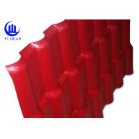 Quality Plastic Prefab Houses Synthetic Resin Roof Tile ASA  Anti - Aging Width 1050MM for sale