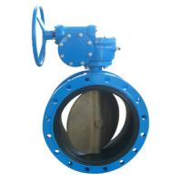Quality worm gear double flanged butterfly valve for sale