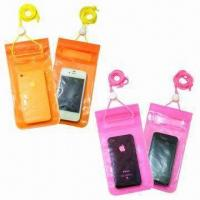 Quality Waterproof PVC Holder for iPhone, with 3 Lock Zipper Closures, Large in Size for sale