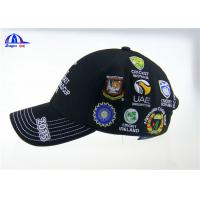 Quality Personalized Black Cotton Custom Baseball Caps with Embroidery Logo for ICC Cricket Wolrd Cup for sale