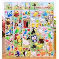 Quality Bird Theme Cartoon Foam Sticker Non-toxic Custom EVA Puffy Stickers for sale