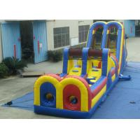 Quality Giant Customized Obstacle Course Jumpers , Indoor Moonwalk Obstacle Course for sale