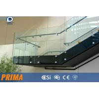 Quality High quality Framless Clear Glass Railing for Outdoor Balconies for sale