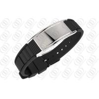 Buy Ionized Silicone Stainless Steel Magnetic Bracelets For Mens at wholesale prices