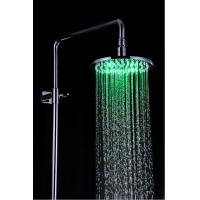 Quality Bathroom Rain Showers Heads Led Lighted Stainless Steel Φ200 x 9mm for sale