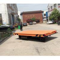 China Without Rail Motorized Transfer Trolley 20 Ton Battery Transfer Cart For Material Transport for sale