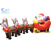 Quality Yard Garden 9.5 Foot Inflatable Santa Claus On Sleigh for sale