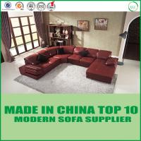 China Modern U-Shape Home furniture Leisure Wooden Sectional Corner Leather Sofa Bed on sale