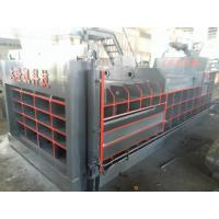 China Horizontal Non Metal Scrap Baler Machine Bale Push Out Color Customized on sale