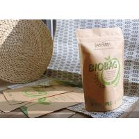 Quality Customized Bio Compostable Bags , Biodegradable Food Bags PLA Zipper For Tea / Snacks for sale
