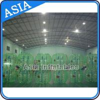Quality Beautiful 1.0mm PVC Green Inflatable Bubble Football For Soocer Games for sale