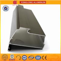 Quality Electrolytic Coated Aluminum Window Profiles Bronze Matte Flat Corrosion - Resistant for sale