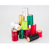 Quality Colored Wine Bottle Foil Capsules Shrinkable Side Offset printed Hot Stamping for sale