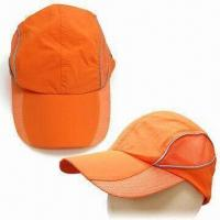 Quality Nylon Baseball Cap with Reflective Strip and Metal Closure on Back for sale
